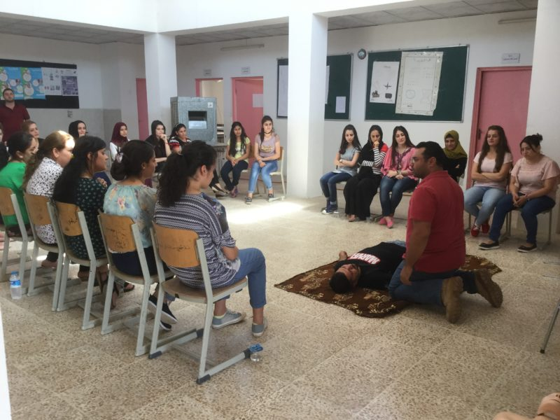 FRRME America Funds First Aid Training Course for Iraqi Women